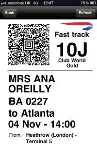 British Airways boarding pass #travel #alookat #airlines