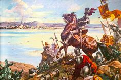 "La Pintura y la Guerra ""Llegada de Hernán Cortés a Tenochtitlan"""