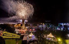 Fogos de artificio no Festival Nature One, Alemanha