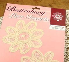Battenburg Lace Inserts Applique Wild Flower by AntiquesGaloreGal, $6.50