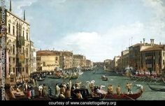A Regatta on the Grand Canal c. 1732 by (Giovanni Antonio Canal) Canaletto. Painting analysis, large resolution images, user comments, slideshow and much more.