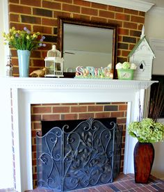 My Easter / Spring Mantel