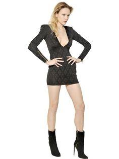 Lurex Viscose Jacquard Knit Dress - Lyst