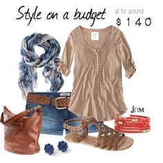 Style on a budget, created by jayneann1809 on Polyvore