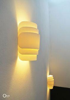 DIY Paper wall lamp | Ohoh Blog - diy and crafts