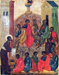 Pskov School of iconography Maundy Thursday (Jesus washes the feet of the Disciples) Russia (c. tempera on wood panel One of the oft-used methods of erasure of people of color among western art. Black History Facts, Art History, Jesus History, Maundy Thursday, Black Jesus, White Jesus, Religious Icons, Religious Art, We Are The World