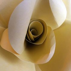MUSTARD YELLOW giant paper wall rose wall decor by valeriepaperie
