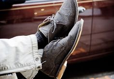 These suede boots are fantastic.