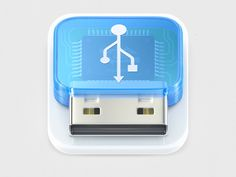 USB icon is great with the multi dimensional case and internal structure, by Alexandr Nohrin