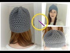 [ DIY ] Bonnet en point 8 et bord point endroit au tricotin circulaire - YouTube