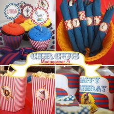 Circus Madagascar Style Party KIT - Digital File - printable party
