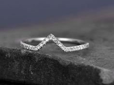 Sterling silver ring/Cubic Zirconia wedding band/CZ wedding
