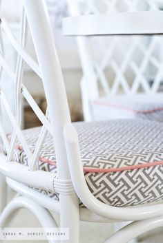 sarah m. dorsey designs: Refinishing Rattan Chairs