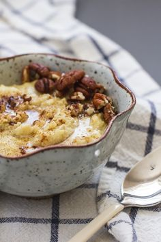 Breakfast Friday >> Creamy Millet Porridge | edibleperspective.com RECIPE ON SITE