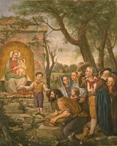 Virgen de la Estrella / Año: 1861 / Lugar: San Luca, Italia / Apariciones de la Virgen a Righetto Cionchi, niño de 4 años.