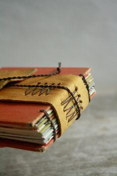Boheme - A Mini Handstitched Journal by odelae http://www.etsy.com/shop/odelae