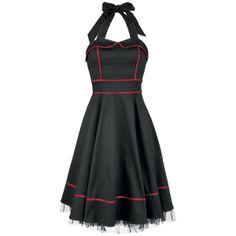 Black'n'Red Piping Long Dress - Mekko