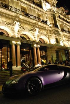 Bugatti outside the hotel...