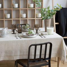 Mantel y servilleta lino color marrón - Manteles - Mesa | Zara Home España