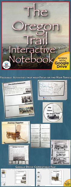 The Oregon Trail Interactive Notebook Activities, which works for both print and Google Drive™, is a great stand alone mini-Interactive Notebook activity or an add-on section for a Social Studies Interactive Notebook.