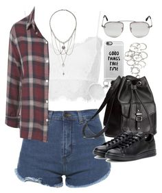 """Outfit for a summer festival"" by ferned on Polyvore featuring Topshop, Zara, Casetify, H&M, adidas, Prada, Forever 21, Michael Kors, women's clothing and women"