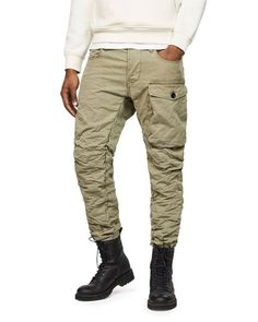 G-star Raw Tendric Tapered Fit Cargo Pants In Sage Cargo Pants Outfit, Cargo Pants Men, Khaki Pants, Mens Cargo, Men's Pants, Casual Pants, Mens Taper, Raw Denim, Men Online