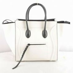 Cheap Sale : $357.00 - Celine Luggage Phantom In Multicolor Calfskin White 417