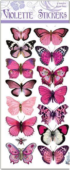 Pink butterfly stickers to make 2 sheets - City of animals Art Papillon, Papillon Rose, Butterfly Drawing, Pink Butterfly, Butterfly Images, Monarch Butterfly, Motifs Animal, Beautiful Butterflies, Pastel Pink