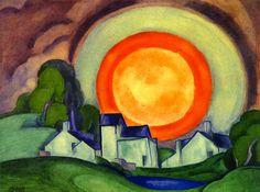 Oscar Bluemner - May Moon (Surprise) 1927