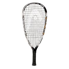 Step up your racquetball game with Head's liquid metal technology. The Head Liquidmetal Hurricane Racquetball Racquet is 2.5 times stronger than Titanium and produces 29% more power. The head size is 105 sq in; weight unstrung: 190 g; balance: 290 mm; length: 22 in. The liquidmetal results in ultimate energy return and creates 29% more power in your shot!!