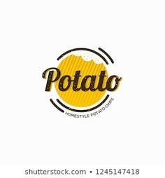 Stock Photo and Image Portfolio by Vingar Restaurant Logo Design, Food Logo Design, Logo Food, Branding Design, Food Company Logo, Fast Food Logos, Potato Snacks, Drinks Logo, Shop Logo