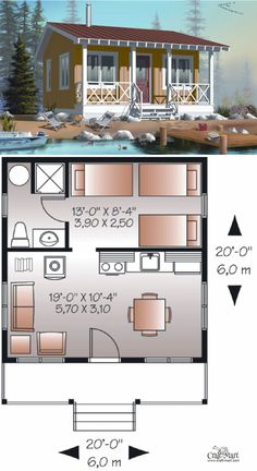 Forester tiny house floor plan for building your dream home without spending a fortune. Your tiny house doesn't have to be ugly or weird - just look at these architectural masterpieces! Chose from traditional plans to mobile tiny house plans that will allow you to change your lifestyle