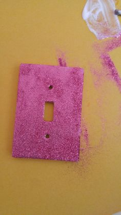 Glitter light switch plate me and the girls did today