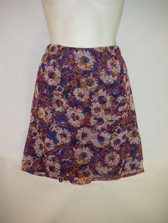 Mossimo XL Floral Elastic Waist Skirt New #Xhilaration #Flared
