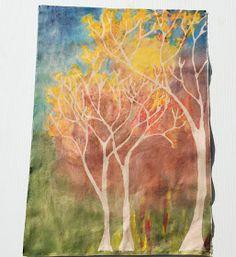 that artist woman: How to do a Fall Glue Batik