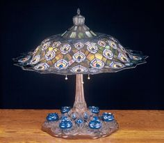 26.5 Inch H Tiffany Peacock Feather Table Lamp