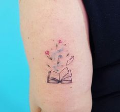 40 amazing book tattoos for literary lovers book tattoo tattoo rh pinterest com open book tattoo meaning open book watercolor tattoo