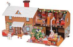 PAPERMAU: Santa Claus House Diorama - by Canon - Casa do Pap...