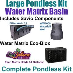10 x 30 Large Pondless Waterfall Kit with 5 EcoBlox Water Matrix Kit 6100 GPH Hybrid Drive Pump Savio 30 Waterfall PLSB4 ** Find out more about the great product at the image link.