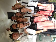 The Mansfield Liederkranz Dance Group getting ready to perform at Put-in-Bay, Ohio for Oktoberfest.
