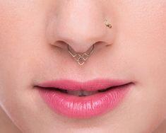 Gold Septum Jewelry  Solid Gold Septum Ring  Nose von StudioMeme