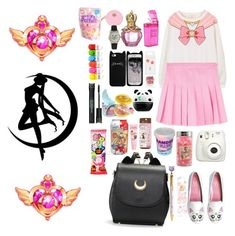 """Sailor moon"" by sanhamoonbine ❤ liked on Polyvore featuring cutekawaii, Fujifilm, Cotton Candy, Forever 21, Tony Moly, Pupa, ASOS, Olivia Pratt and Ladurée"