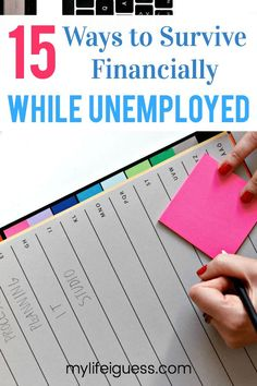 If you are unemployed, you need a way to financially survive this trying time. Here are 15 Ways to Survive Financially While Unemployed. - My Life, I Guess via # unemployment surviving 15 Ways to Survive Financially While Unemployed Financial Literacy, Financial Tips, Financial Assistance, Financial Planning, Budgeting Finances, Budgeting Tips, Money Tips, Money Saving Tips, Money Hacks