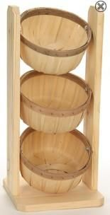 Shallow 1/2 Peck Baskets Counter Rack| Countertop basket - so cute!  Pile lip balms, or lotion bars in this!