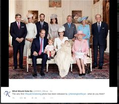 Official Royal family photo of Princess Charlotte's christening