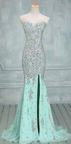 Prom dress long , sky blue Dress , love it !
