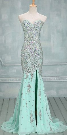 Prom dress long , sky blue Dress , love it !