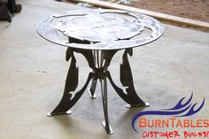 Dolphin Metal Table.  #cnc #plasma #metal #steel #dolpin #sea #beach #house #furniture #outside #art
