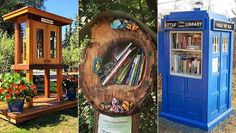 These Little Free Library builders went above and beyond to make their pop-up book nooks stand out!