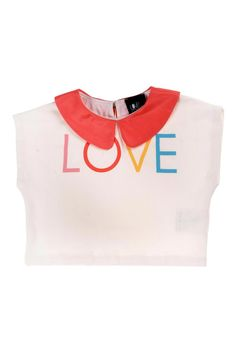 """Love"" crop t-shirt"